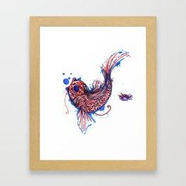 A Coi Fish Framed Art Print