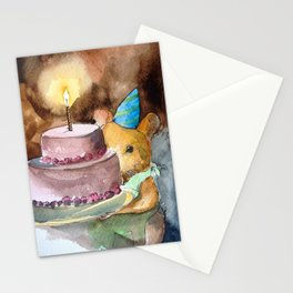 Ginger Celebrates with Cake Stationery Cards