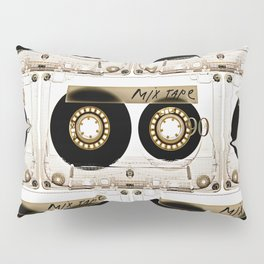 Retro classic vintage transparent mix cassette tape Pillow Sham