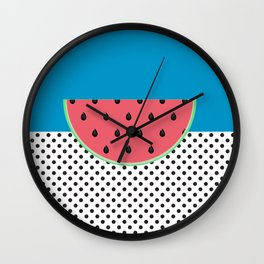 Watermelon Splash Wall Clock