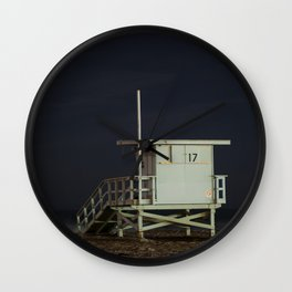 Life Guard Tower Night Beach Seascape Ocean View Colored Wall Art Print or Wall Canvas Print Wall Clock