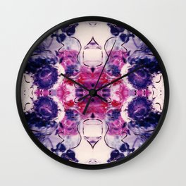 Wine & Flowers Photographic Pattern #1 Wall Clock