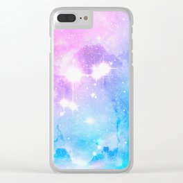 Starry Mist Clear iPhone Case