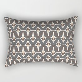 BAOBAB - abstract ethnic boho pattern tan chocolate brown grey Rectangular Pillow