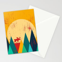 Moose in the mountains Stationery Cards