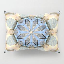 Blue And Gold Mandala Pillow Sham
