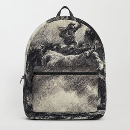 Rosa Bonheur - A Cowherd Driving Cattle - Digital Remastered Edition Backpack