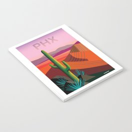 Phoenix Arizona Travel Poster Notebook