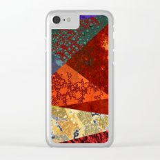 Abstract #300 Oxidation Clear iPhone Case