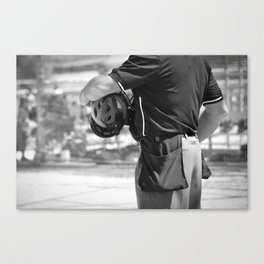 Umpire in Black and White Canvas Print