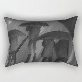 Feeling Blue by Lu, black-and-white Rectangular Pillow