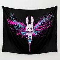 bioshock Wall Tapestries featuring Little Moth by Skeleton Jack