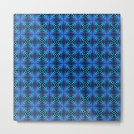 Modern Tribal Blue Pulse Metal Print