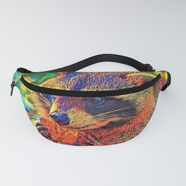 AnimalColor_Raccoon_001_by_JAMColors Fanny Pack
