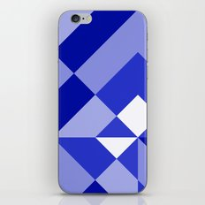 Blue and White Geometric Abstract iPhone & iPod Skin
