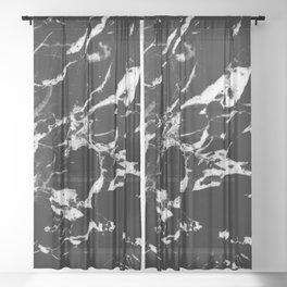 Black Marble #13 #decor #art #society6 Sheer Curtain