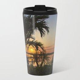 Sunset in Downtown Chincoteague Travel Mug
