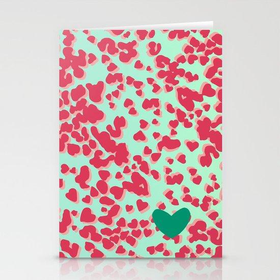 Animal Print Pink Stationery Cards