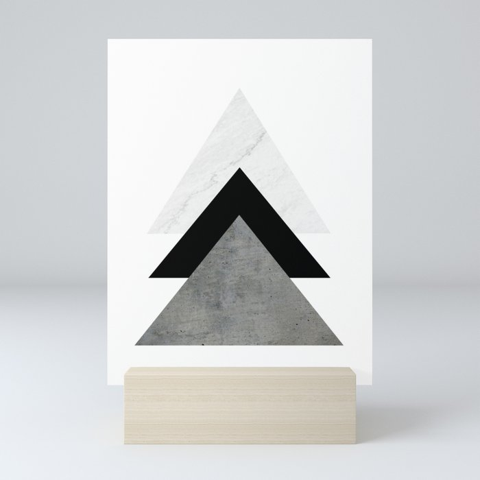 Arrows Monochrome Collage Mini Art Print