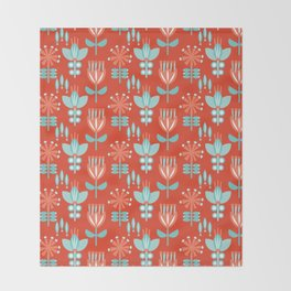 Whirlygig Floral Throw Blanket