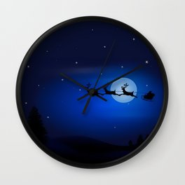 Xmas Night Wall Clock