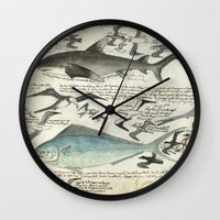 notebook Wall Clocks featuring Sealife Notebook by Common Design