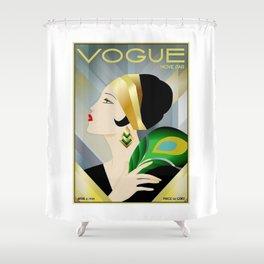 VogueVintage 1929 Magazine Flapper Shower Curtain