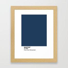 MANTONE® Rush-Hour Manspread Framed Art Print