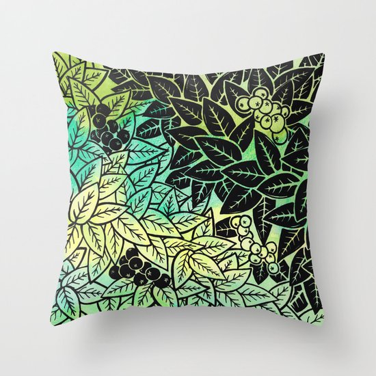 Leafy YingYang Throw Pillow