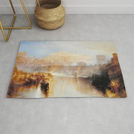 """J.M.W. Turner """"Ancient Rome; Agrippina Landing with the Ashes of Germanicus"""" Rug"""
