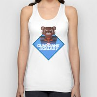 rocket raccoon Tank Tops featuring Guardians of the Galaxy - Rocket Raccoon by Casa del Kables