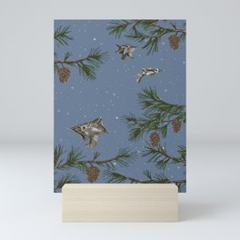 FLYING SQUIRRELS IN THE PINES (twilight) Mini Art Print