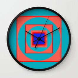 Circles and Squares Wall Clock