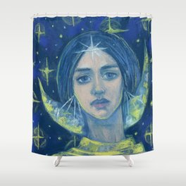 Hecate / Goddess of the Moon Shower Curtain