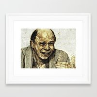 princess bride Framed Art Prints featuring Vizzini from Princess Bride by Aaron Bir