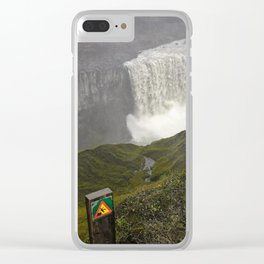 Dettifoss Waterfall in Iceland (1) Clear iPhone Case