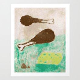 Chicken Bone Art Print