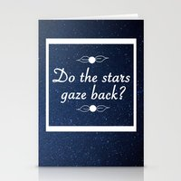 neil gaiman Stationery Cards featuring Neil Gaiman Quote 1 by Hannah Sutker