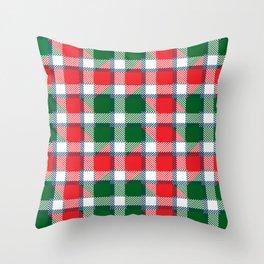 Santas Tartan Throw Pillow