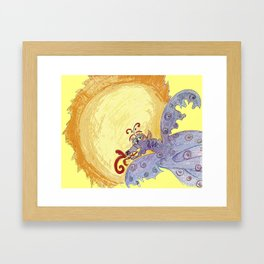 Dragon Sun Sky Framed Art Print