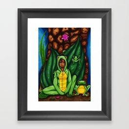Das Froschmädchen/The Frog Girl Framed Art Print