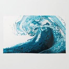 Ocean Wave Acrylic Pour Rug