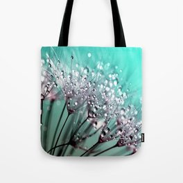 Diamond Blue Water Droplets Tote Bag