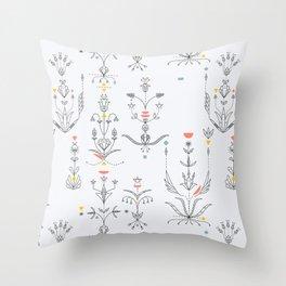 Midcentury Modern - Dakota Floral 1 Throw Pillow