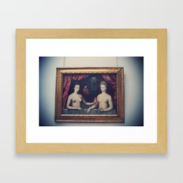 """Gabrielle d'Estrées and one of her sisters"" Framed Art Print"