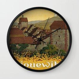 Vintage poster - Riquewihr Wall Clock
