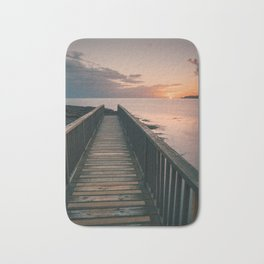 Pans Rocks Sunset III Bath Mat