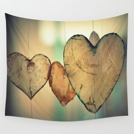 Vintage Boho Chic Bokeh Hearts Wind Chimes Wall Tapestry