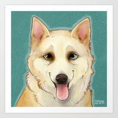 Husky Portrait Art Print