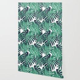 Green tropical leaves Wallpaper